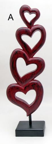 Indoor Decor - Hearts on stand SALE 2 for $50