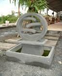Concrete Water Wheel Water Feature