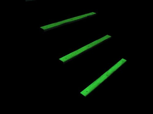 Glow in the dark stair / step treads