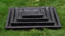 Concrete Terrazzo Saucer Square - 4 Sizes