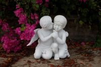 Kissing Cherub Garden Statue