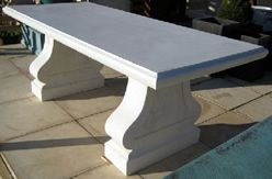 Final Clearance on GRC Outdoor Table - 1800L x 900W x 720Hmm - Aged Limestone