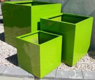 Lightweight Outdoor Square Planter in Bright / Gloss Colours - 7 sizes