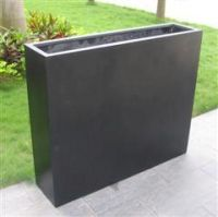 Rectangular Metre Tall Divider Trough in Premium Lightweight Terrazzo - 2 Sizes