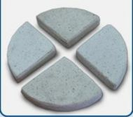 Concrete Terrazzo Feet Flat 85x20 H mm - Set of 4 - White