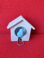 Bird house single key holde