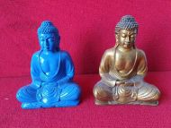 Buddha - blue & Gold -resin
