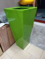 Lightweight Outdoor Tall Square Taper Planter in Bright / Gloss Colours - 2 Sizes