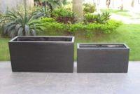 Planter in Premium Lightweight Terrazzo-Oblong PlanterSize : 800 x 300 x 400Hmm)(