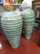 Terracotta Painted Texture Urns
