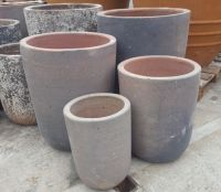 Tall Round Crucible- Old Stone -5 Size