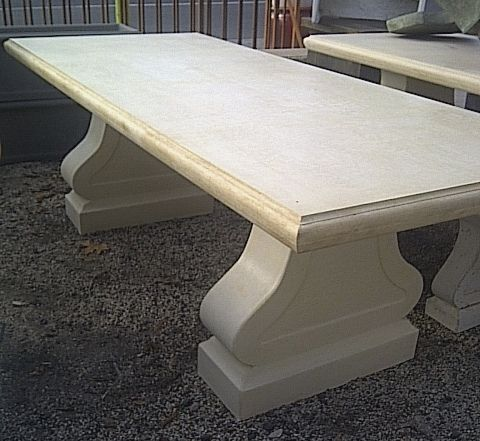 Final Clearance on GRC Outdoor Table - 2400L x 900W x 720Hmm - Sandstone