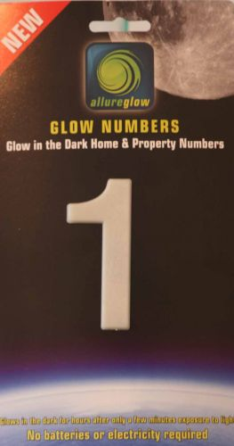 Glow in the dark house numbers