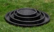 Concrete Terrazzo Saucer Round - 4 Sizes