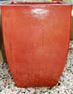 Glazed Milan Planter Size 2 - 330 x 470mm - Copper Red
