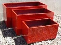 Lightweight Outdoor Oblong Planter in Bright / Gloss Colours - 4 Sizes
