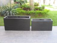 1 metre Rectangle (Oblong) Planter in Premium Lightweight Terrazzo (Size 3) 1000 x 400 x 500H mm