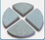 Concrete Terrazzo Feet Flat 85x17 H mm - Set of 4 - White
