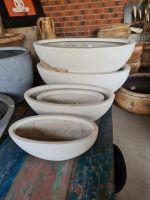 Premium Fibreglass Terrazzo-Oval Boat Bowl- - ( 3 Size )