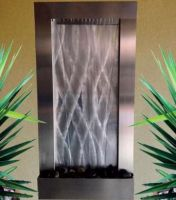 Stainless Steel Wall Fountain - Vertical - 1000H x 500W mm